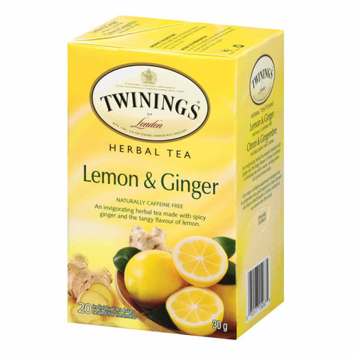 Twinings Lemon and Ginger Tea - 20 count