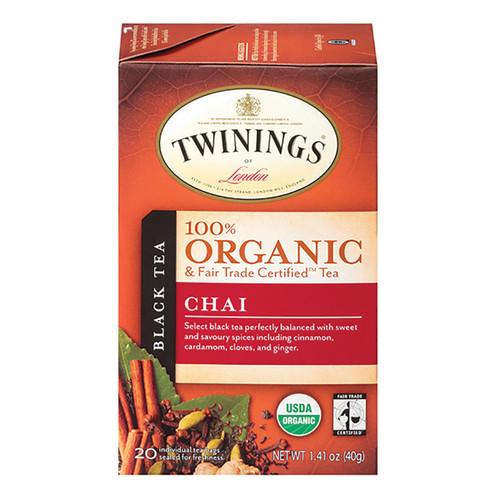 Twinings Organic Tea - Chai - 20 Count