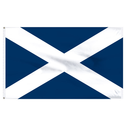 Scotland (St.Andrews Cross) 5ft x 8ft Nylon Flag