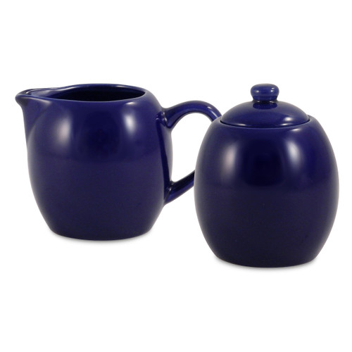 Amsterdam Cream & Sugar Set - Royal Blue
