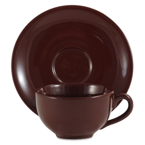 Amsterdam Tea Cup & Saucer - Brown