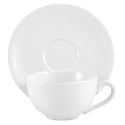 Amsterdam Tea Cup & Saucer - White