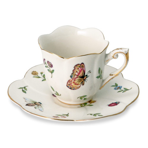 Morning Meadows Cup and Saucer - Set of 4