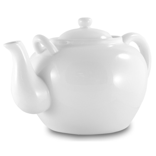 White Porcelain Large Teapot 75oz