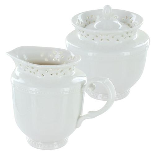 Beaufort Porcelain Sugar Bowl & Creamer Set