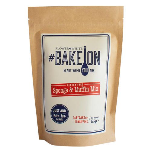 Flower White #BakeOn Gluten Free Sponge & Muffin Mix - 13.2oz (375g)