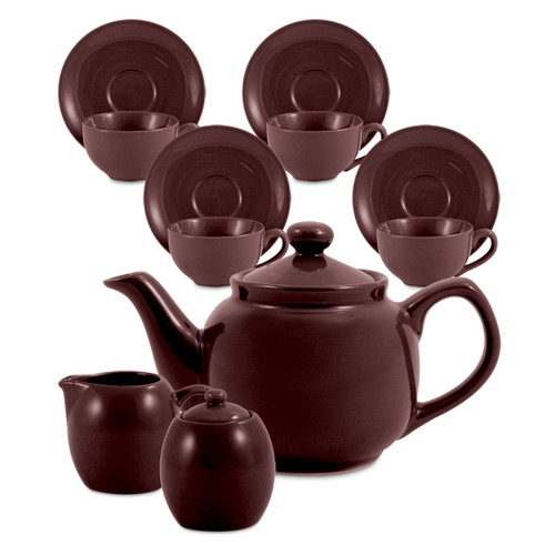 Amsterdam Tea Set - 6 Cup - Brown