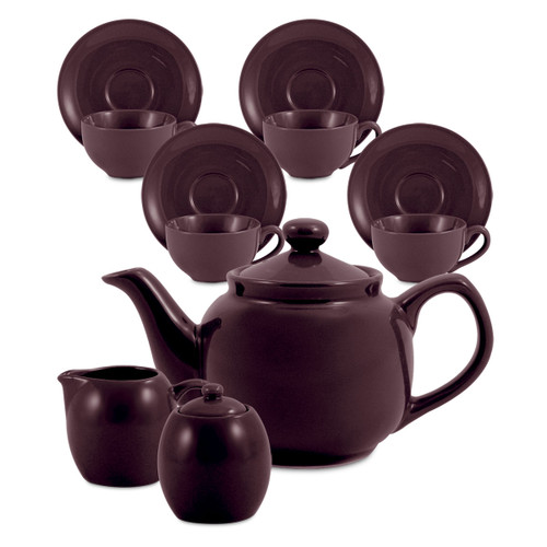 Amsterdam Tea Set - 6 Cup - Plum