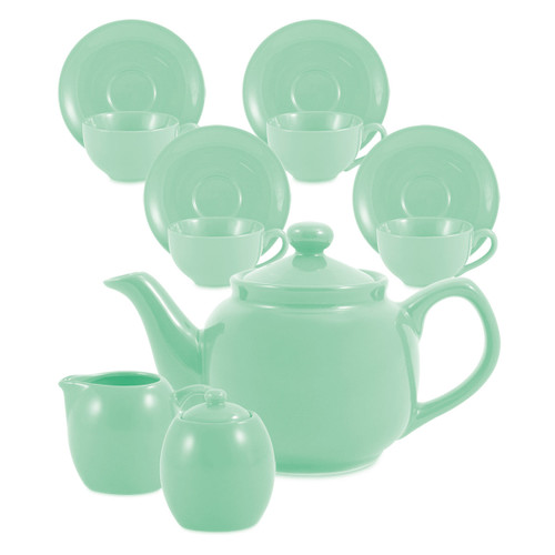 Amsterdam Tea Set - 6 Cup - Sea Foam