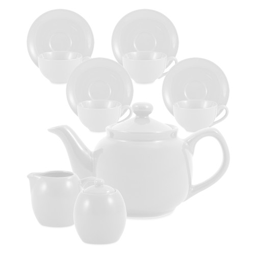 Amsterdam Tea Set - 6 Cup - White