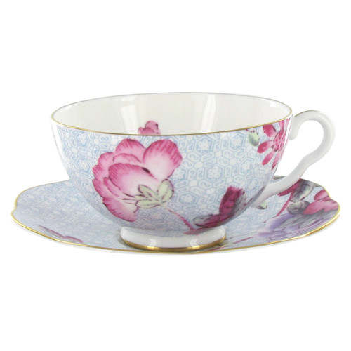 Wedgwood Harlequin Collection - Cuckoo - Tea Cup and Saucer - Blue