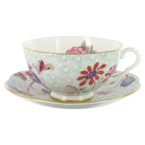 Wedgwood Harlequin Collection - Cuckoo - Tea Cup and Saucer - Green