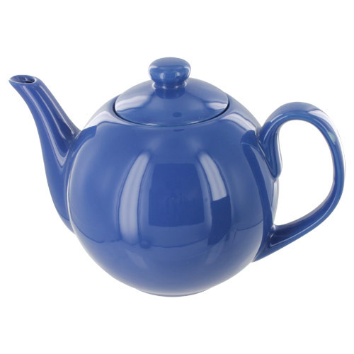 Teaz Cafe Teapot with Stainless Steel Infuser - 40oz - Blue