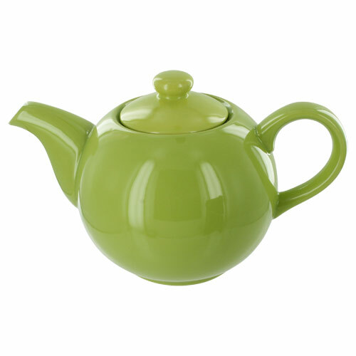 Teaz Cafe Teapot with Stainless Steel Infuser - 40oz - Green