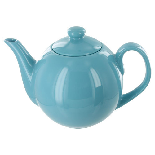 Teaz Cafe Teapot with Stainless Steel Infuser - 40oz - Turquoise
