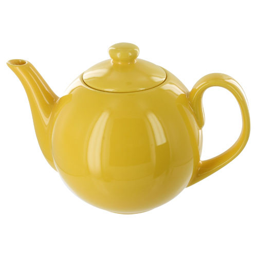 Teaz Cafe Teapot with Stainless Steel Infuser - 40oz - Yellow