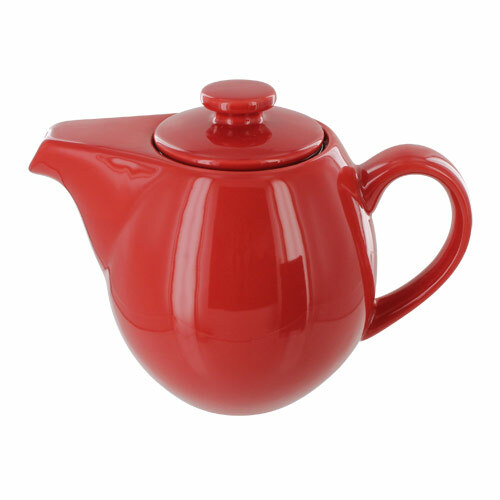 Teaz Cafe Teapot with Stainless Steel Infuser - 24oz - Red