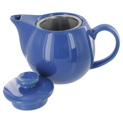 Teaz Cafe Teapot with Stainless Steel Infuser - 14oz - Blue