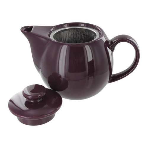 Teaz Cafe Teapot with Stainless Steel Infuser - 14oz - Purple