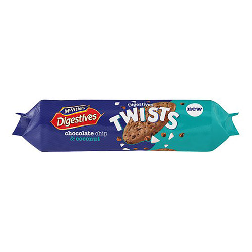 McVities Digestives Twists Chocolate Chip & Coconut - 9.73oz (276g)