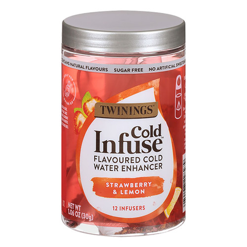 Twinings Cold Infuse Jar - Strawberry & Lemon - 12 count