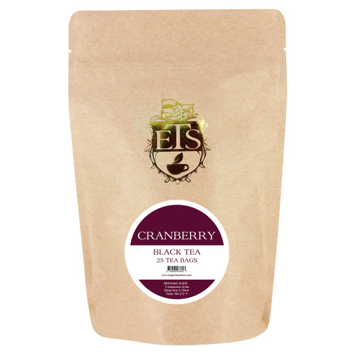 Cranberry Flavored Black Tea - Tea Bags
