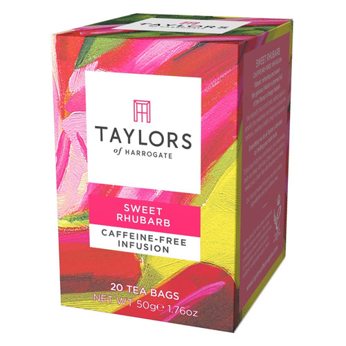 Taylors of Harrogate Tea - Sweet Rhubarb Infusion Herbal Tea - 20 count