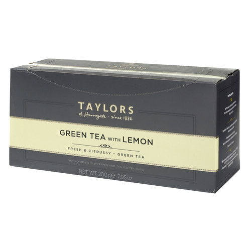 Taylors of Harrogate Green Tea with Lemon String & Tag 100 count