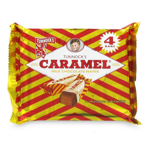 4 Pack - Milk Chocolate Caramel Wafers - 7.2oz (204g)