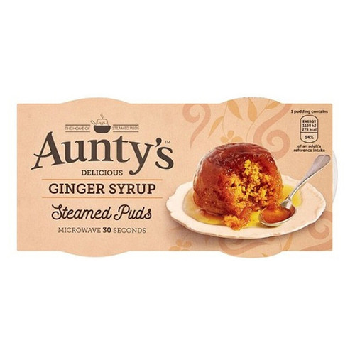Auntys Ginger Syrup Pudding - (2 x 95g)