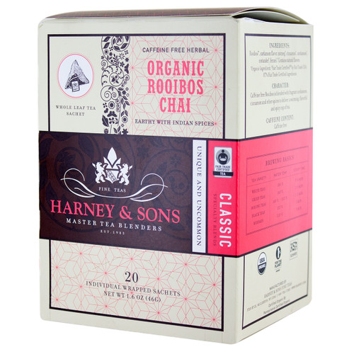 Harney and Sons Tea - Organic Rooibos Chai - 20 count
