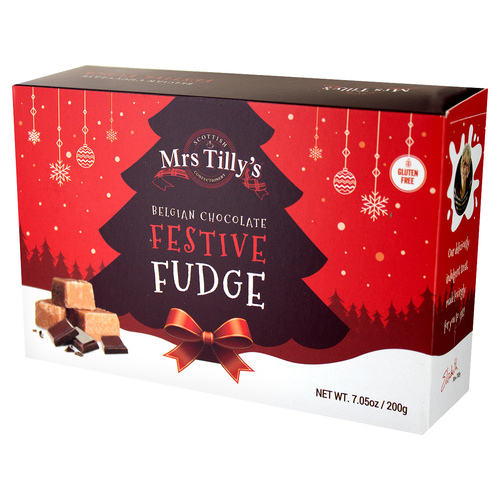 Mrs. Tilly's Festive Fudge Carton - 7.05oz (200g)