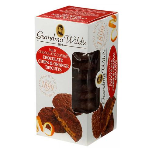 Grandma Wild's Chocolate Coated Chocolate Chip & Orange – 5.3 oz.  (150g)