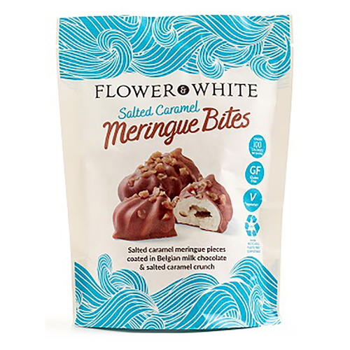 Flower & White Salted Caramel Meringue Bites - 2.60oz (75g)