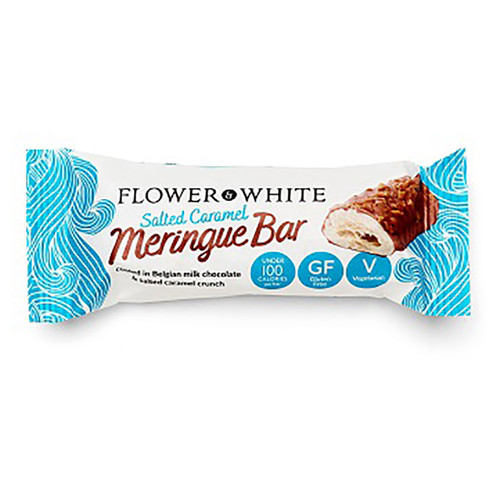 Flower & White Salted Caramel Meringue Bar - 0.83oz (23.5g)