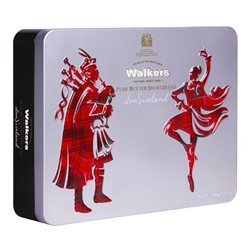 Walkers Shortbread Tin - Scottish Icon Piper & Highland Dancer - 5.29oz