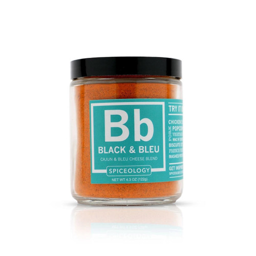 Spiceology Black & Bleu Cajun & Bleu Cheese Rub - Glass Jar