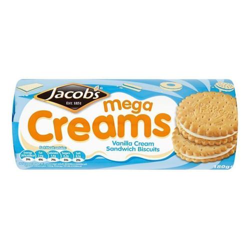 Jacob's Mega Creams - Vanilla Cream Sandwich Biscuits