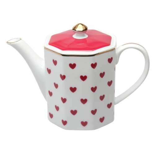 Red Heart Coffee Pot