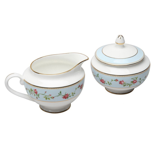 Rose Heart Swag Sugar & Creamer Set
