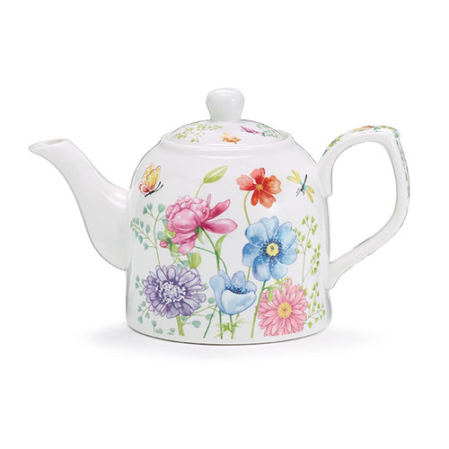 Mixed Blooms Bone China Teapot