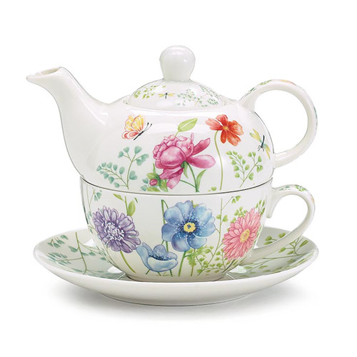 Tea for One Set - Mixed Blooms