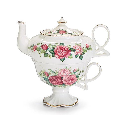 Tea for One Set - Pink Roses