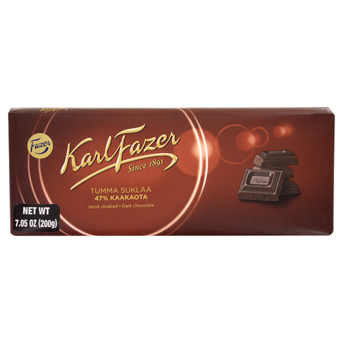 Fazer Dark Chocolate Bar - 7.05oz (200g)