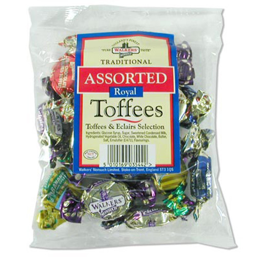Walkers Traditional Assorted Royal Toffees and Eclairs - 5.3oz (150g) - Clearance