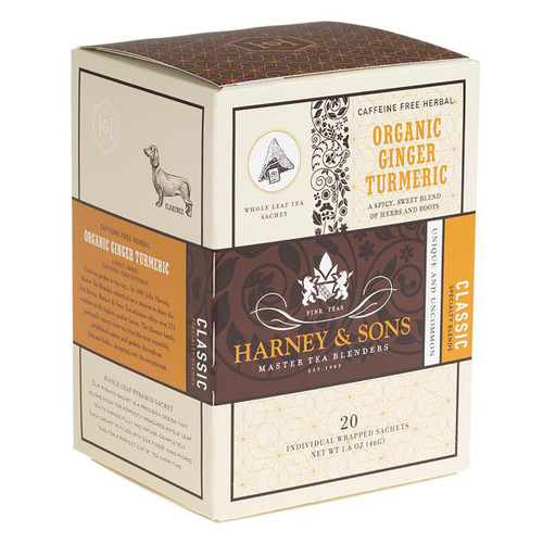 Harney and Sons Tea - Organic Ginger Turmeric - 20 count