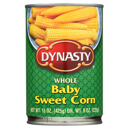 Dynasty Baby Sweet Corn - 15oz (425g)