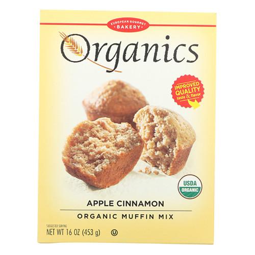 European Gourmet Bakery Organic Apple Cinnamon Muffin Mix - 16oz