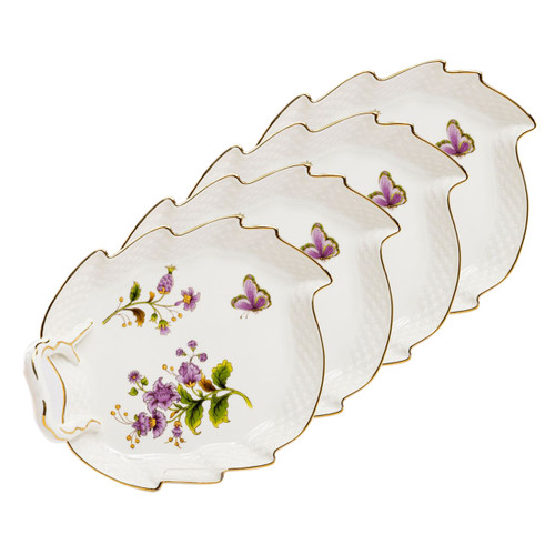 Purple Butterfly Porcelain - Serving Tray - Set of 4