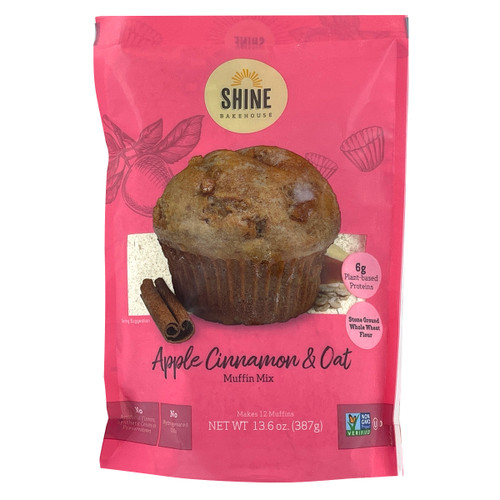 Shine Bakehouse Apple Cinnamon and Oat Muffin Mix - 13.6oz (387g)